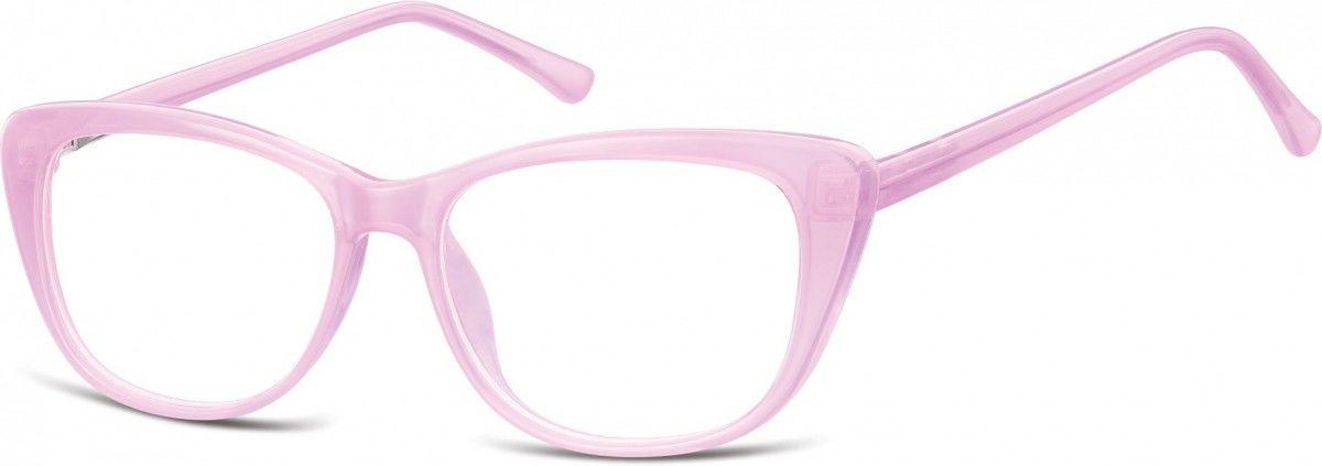 Okulary oprawki korekcyjne Kocie Oczy zerówki Sunoptic CP129C jasno fioletowe