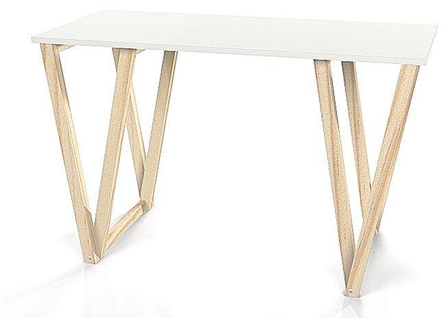 Skandynawskie biurko Alto - białe