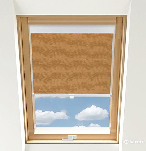 Rolety do okien dachowych BASIC BASMATI - Cappuccino / Biały