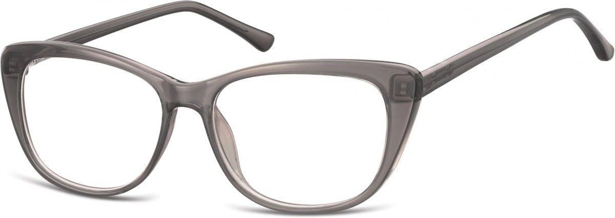 Okulary oprawki korekcyjne Kocie Oczy zerówki Sunoptic CP129D szare