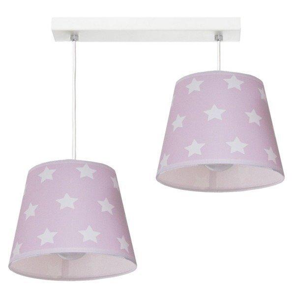 Różowa lampa wisząca Stars II