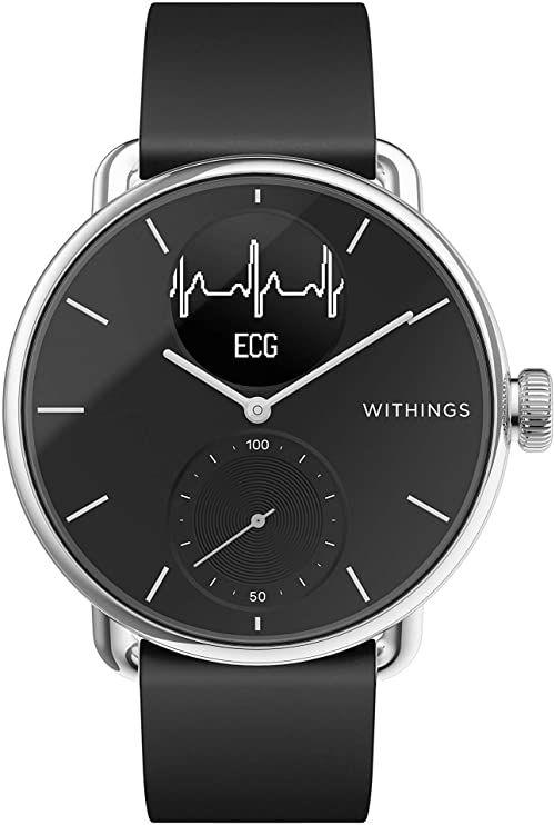 Withings ScanWatch Hybrid Smartwatch z EKG, czujnikiem tętna i oksymetrem