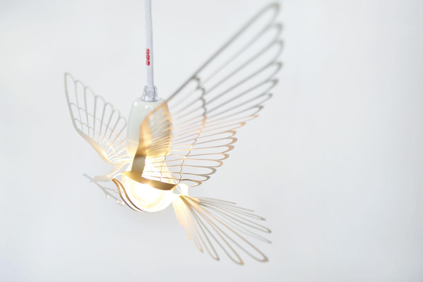 Abażur Bird Light Biały