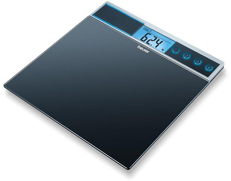 BEURER GS 39 Stereo Waga szklana z funkcją głosową