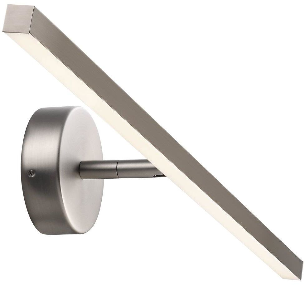 Kinkiet nad lustro IP S13 60 83071032 Nordlux podłużna oprawa ścienna w kolorze stalowym