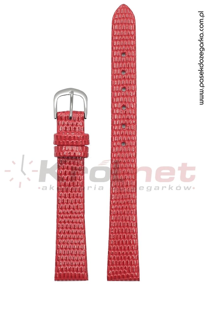 Pasek TK033CZ/14 - czerwony, imitacja skóry jaszczurki
