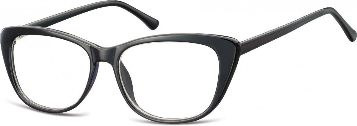 Okulary oprawki korekcyjne Kocie Oczy zerówki Sunoptic CP129F czarne