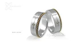 Obrączki srebrne - wzór Ag-004
