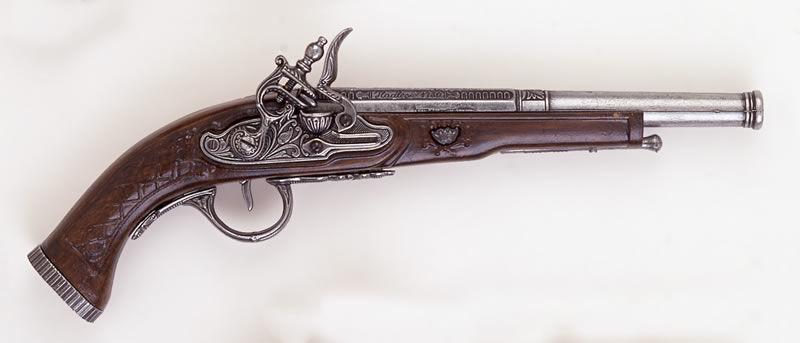 Replika pistoletu skałkowego k1106