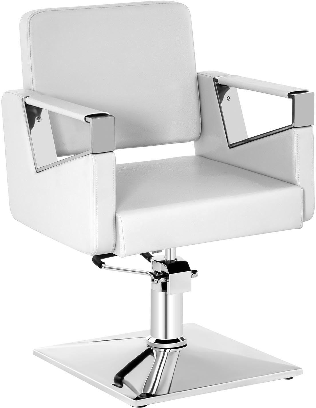 Komplet Fotel fryzjerski Physa Bristol biały + Podnóżek ze stali nierdzewnej - przykręcany - BRISTOL WHITE SET