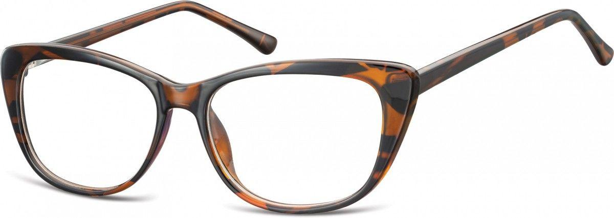 Okulary oprawki korekcyjne Kocie Oczy zerówki Sunoptic CP129G szylkret