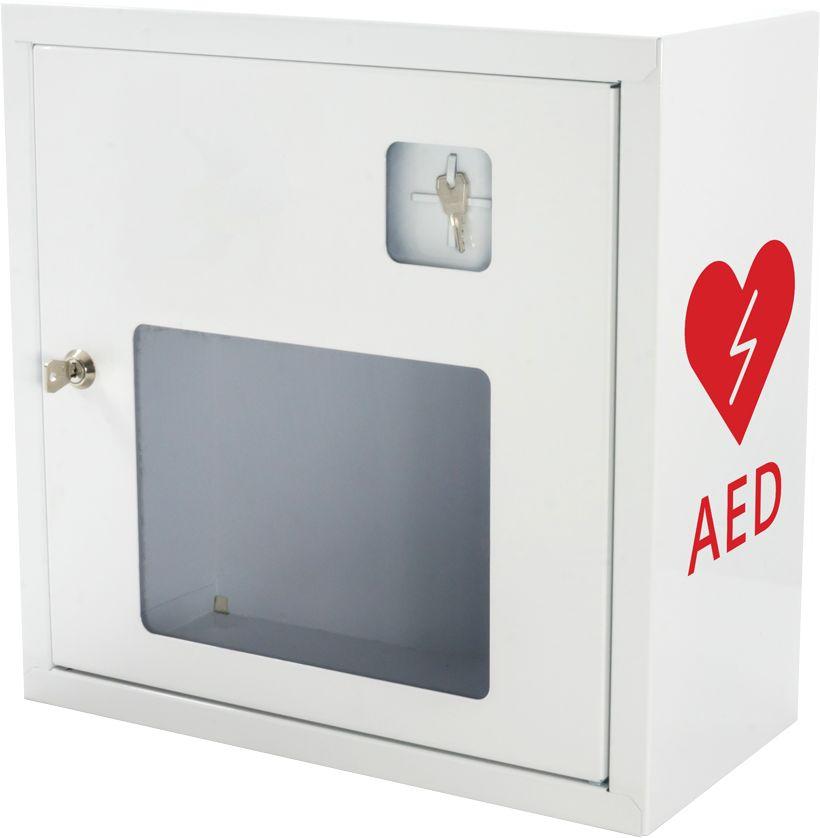 Szafka na AED - biała