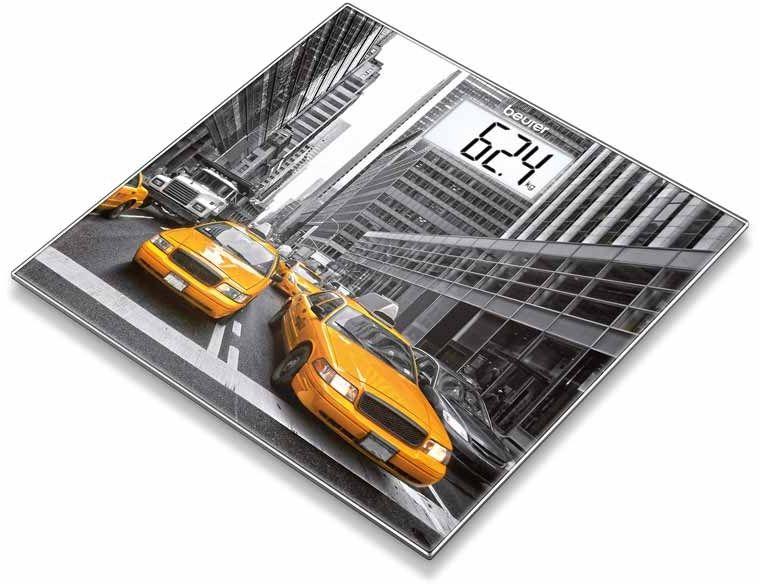 BEURER GS 203 New York Waga szklana motyw z nadrukiem Nowego Jorku