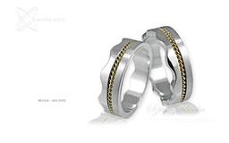 Obrączki srebrne - wzór Ag-005
