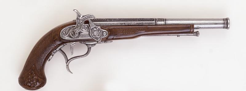 Replika pistoletu z zamkiem kapiszonowym k1109