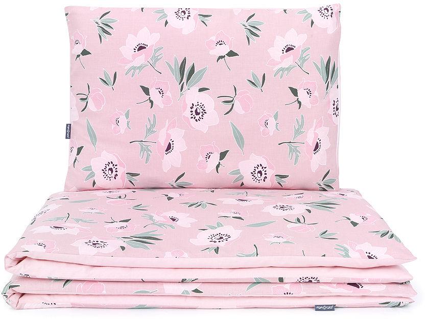MAMO-TATO 2-el pościel dla niemowląt 100x135 - Premium - Kwiaty na różanym / różany