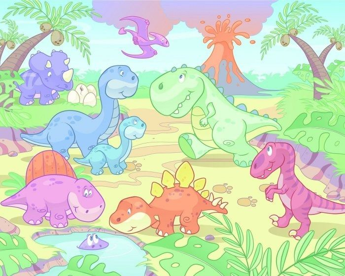 Tapeta baby dinozaury
