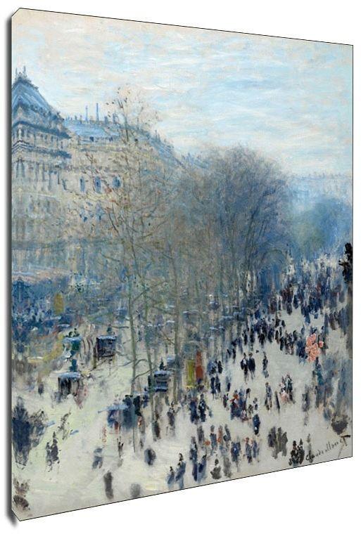 Boulevard des capucines, claude monet - obraz na płótnie wymiar do wyboru: 40x60 cm