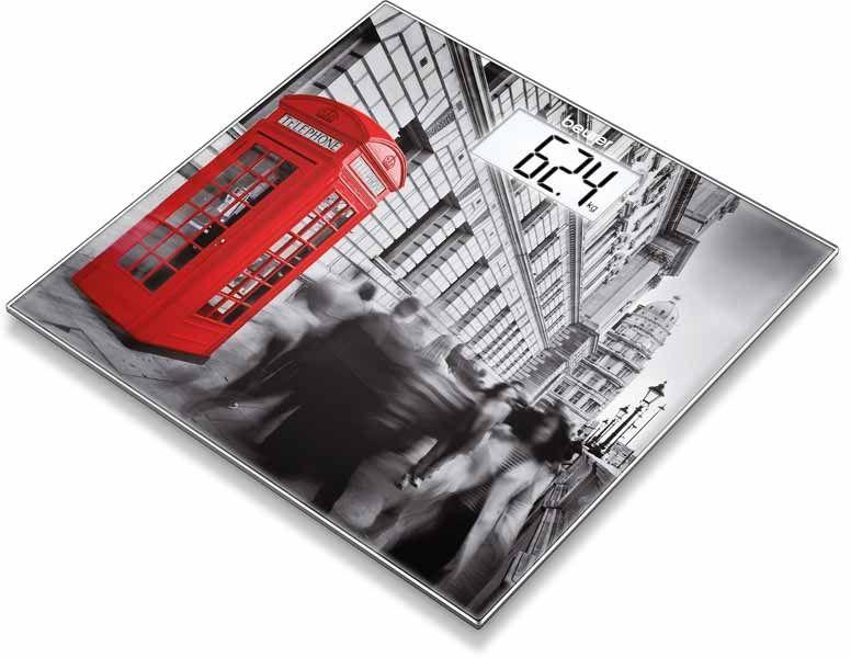 BEURER GS 203 London Waga szklana motyw z nadrukiem Londynu