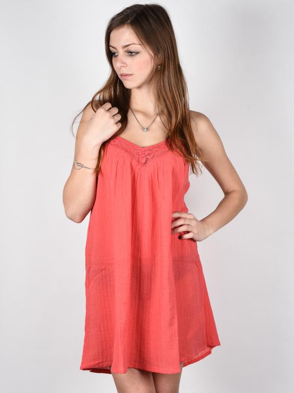 Billabong BEACH BOUND HORIZON RED krótkie sukienki - L
