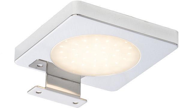 Lampa ścienna nad lustro YOLO SQ nad lustro chrom 12= LED 4W IP44 3000K R10588 - RedLux - SPRAWDŹ RABATY 5-10-15-20 % w koszyku