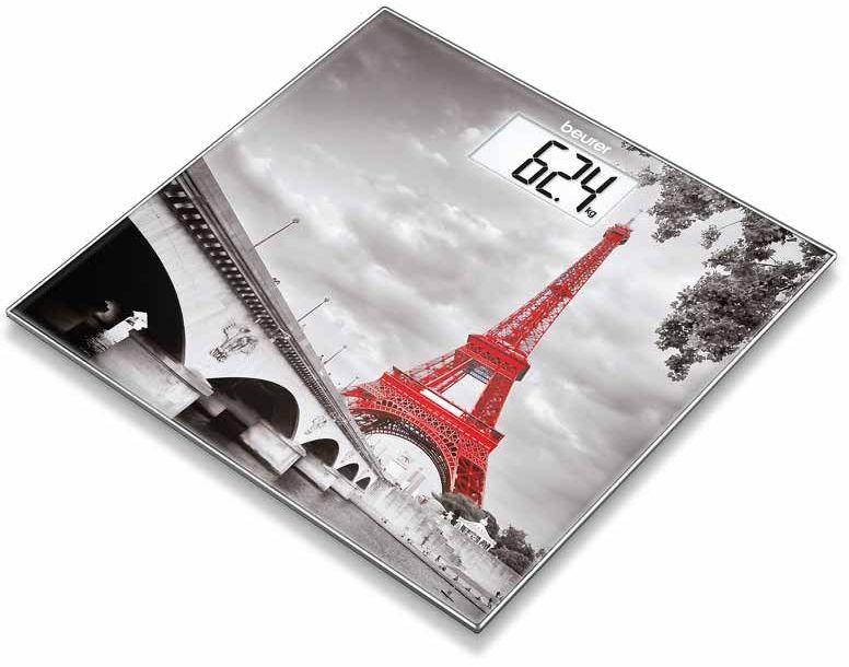 BEURER GS 203 Paris Waga szklana motyw z nadrukiem Paryża