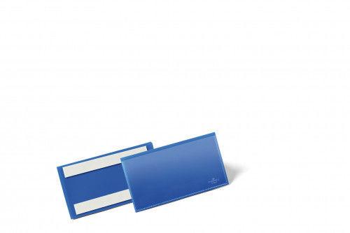 Kieszeń magazynowa samoprzylepna 150x67 mm DURABLE niebieska 50szt. 1762 07