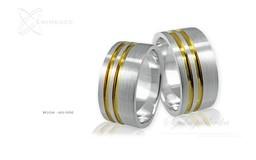 Obrączki srebrne - wzór Ag-006