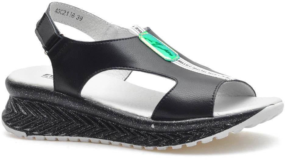 Sandały Lanqier 46C2116 Czarne lico