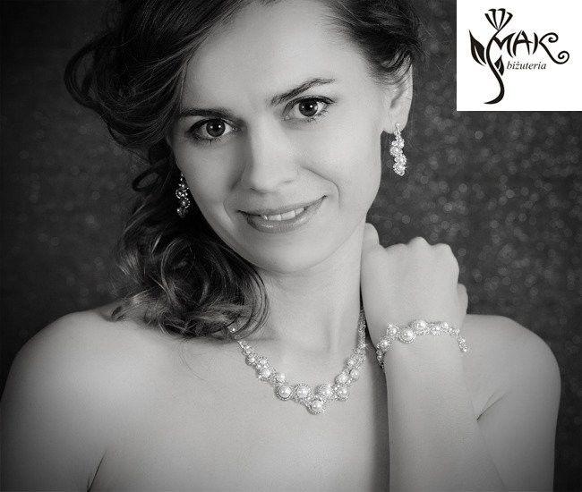 KPL424 crystal biżuteria ślubna KOMPLET Swarovski,