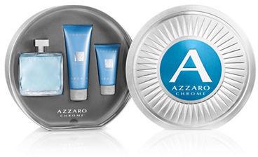 Azzaro Chrome żel do kąpieli 100ml + balsam po goleniu 50ml + woda toaletowa - 100ml