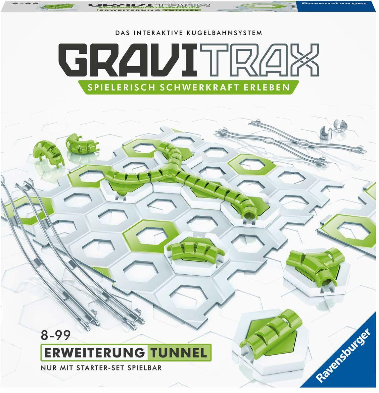 Ravensburger GraviTrax tunel rozszerzający - idealne akcesorium do spektakularnych torów kulowych, zabawka konstrukcyjna dla dzieci od 8 roku życia.