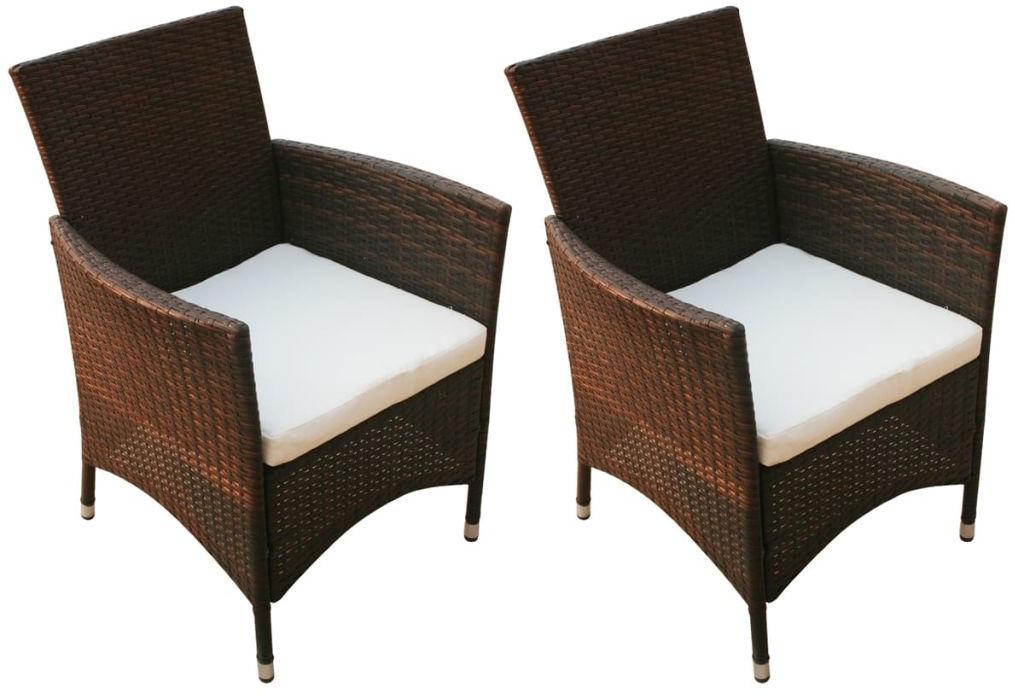 Komplet brązowych krzeseł ogrodowych - Galippe