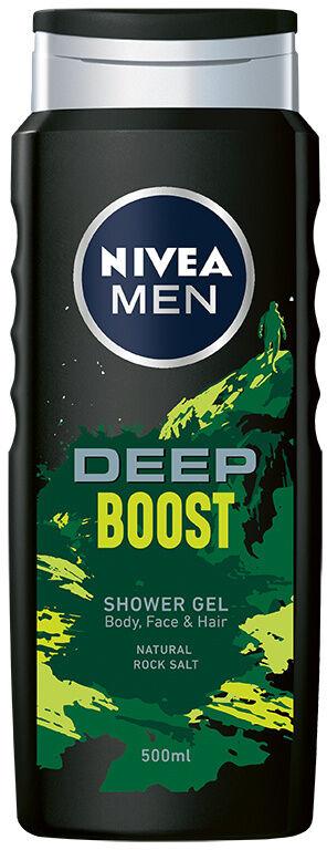 NIVEA SHOWER Żel pod prysznic 500ml MEN DEEP BOOST