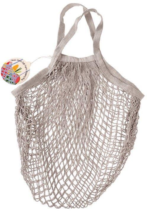 Siatkowa torba na zakupy, jasnoszara, Rex London