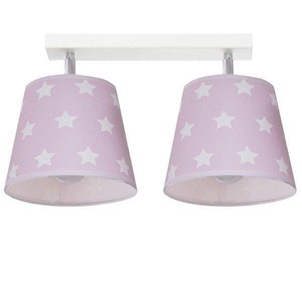 Różowa lampa sufitowa Stars II