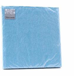 Nouveau Emartentina Uni turkusowe papierowe serwetki, wielokolorowe, 33 x 33 cm