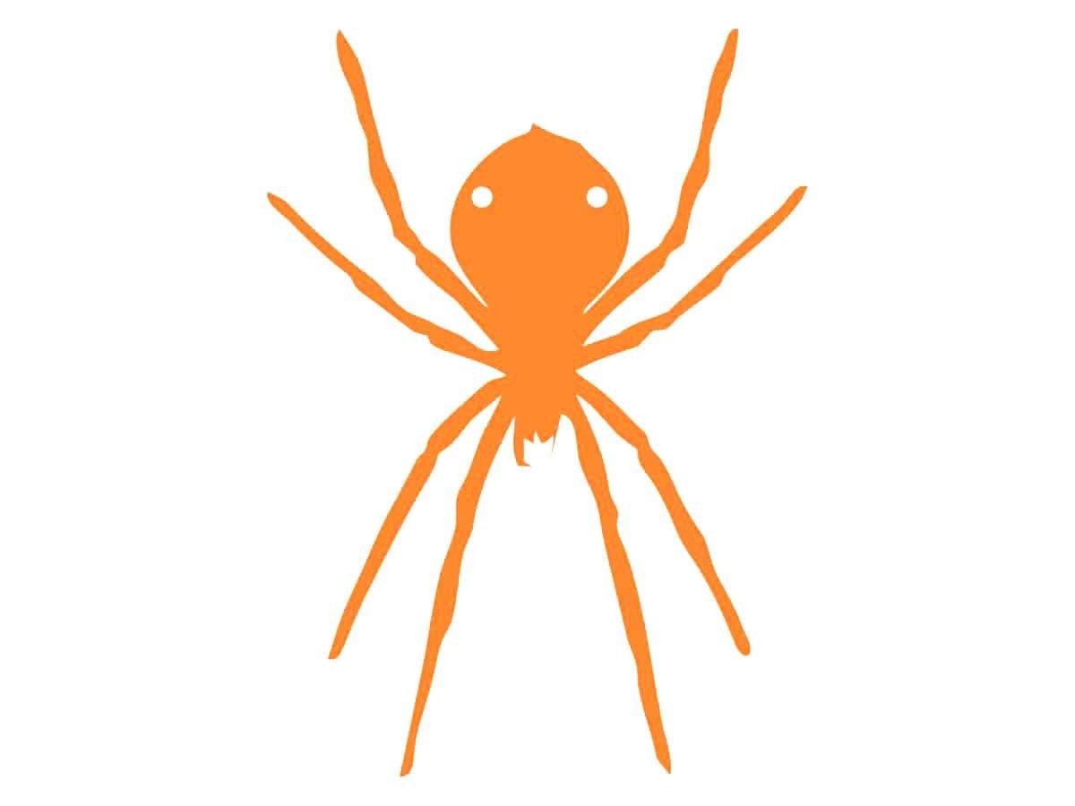 Papierowy pająk na Halloween 13-15 cm - 1 szt.