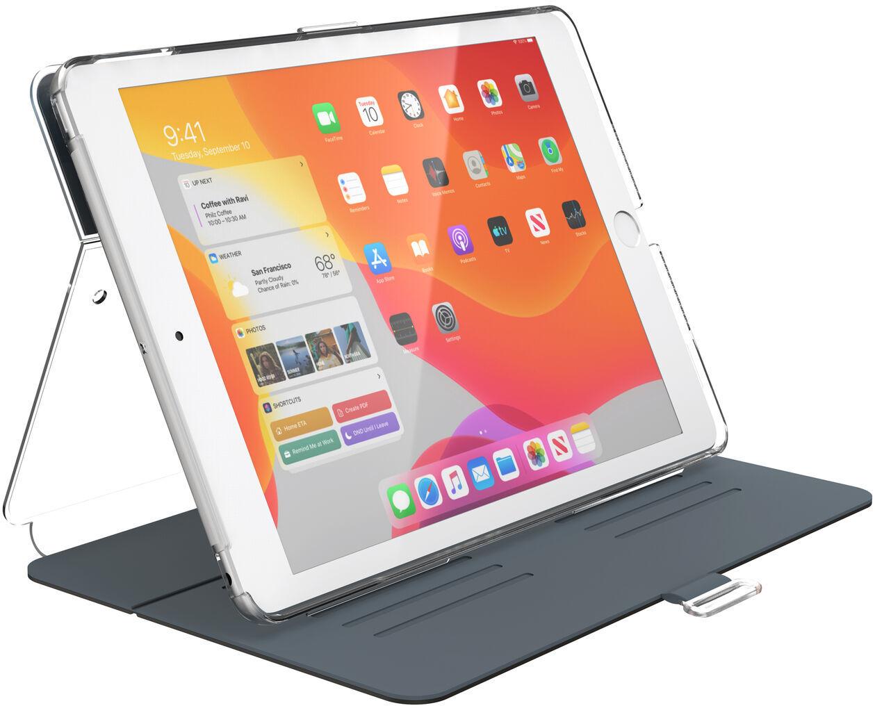 "Speck Balance Folio Clear Etui Obudowa do iPad 10.2"" (2019) (Gunmetal Grey/Clear)"