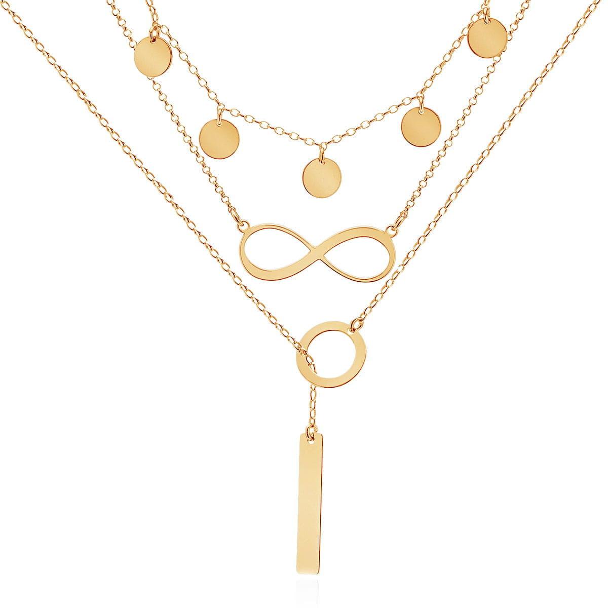 Layered necklace - naszyjnik warstwowy