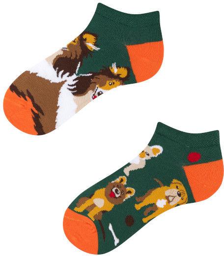 Stopki, Dogs Kids Low, Todo Socks, Pieski, Kości, Kolorowe Dziecięce