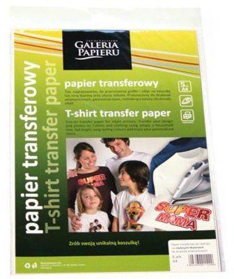 Papier termotransferowy GALERIA PAPIERU Do ciemnych tkanin