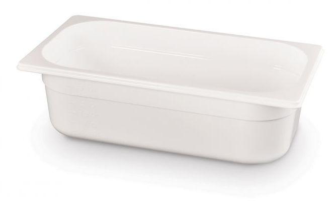 Pojemnik GN 1/3 gł. 6,5 cm z białego poliwęglanu