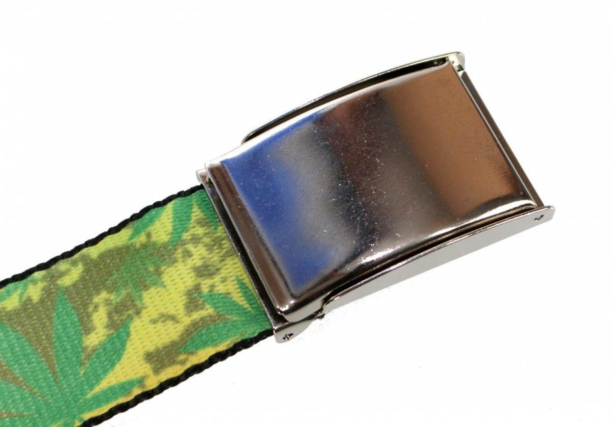 Pasek Parciany TRK (PL) Bawełniany PARCIAK 40 mm Z Klamrą Zatrzaskową Szeroki GD224-4 Grafika Marihuana