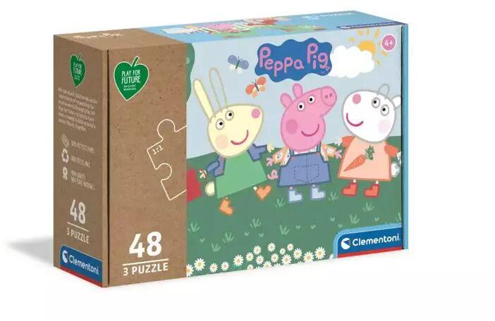 Puzzle 3x48 play for future Świnka Peppa 25269 - Clementoni