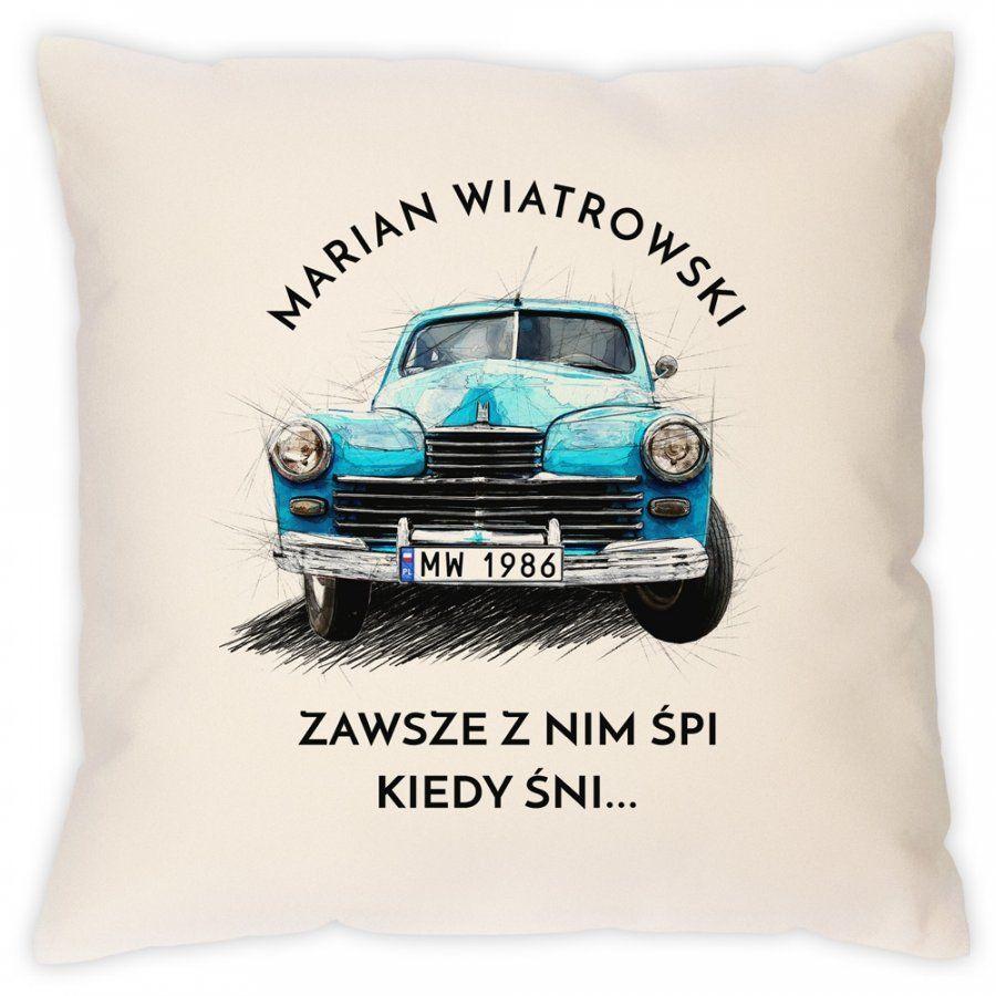 Poduszka z nadrukiem dla fana FSO WARSZAWA M20