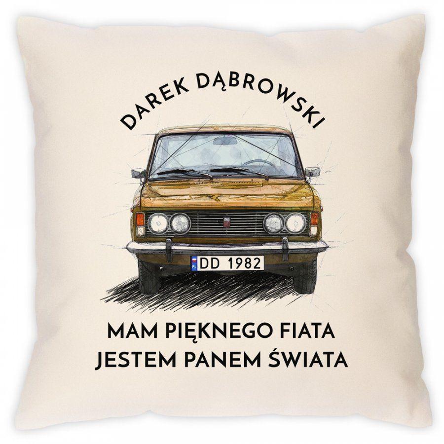 Poduszka z nadrukiem dla fana FSO POLSKI FIAT 125p