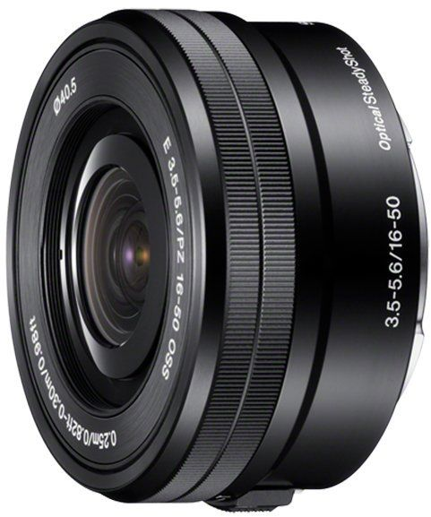 Sony E PZ 16 50 mm F3.5-5.6 OSS - zmiennoogniskowy obiektyw typu power zoom z mocowaniem E, dedykowany do matryc APSC, przeznaczony do serii a6000, a5000, (SELP1650)