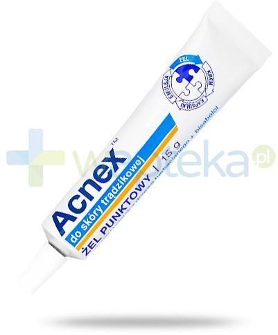 Acnex żel punktowy do skóry trądzikowej 15 g1