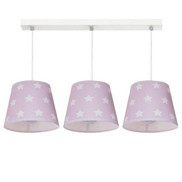 Różowa lampa wiszącaStars III